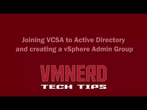 Joining VMWare VCSA 6.0 to Active Directory Domain