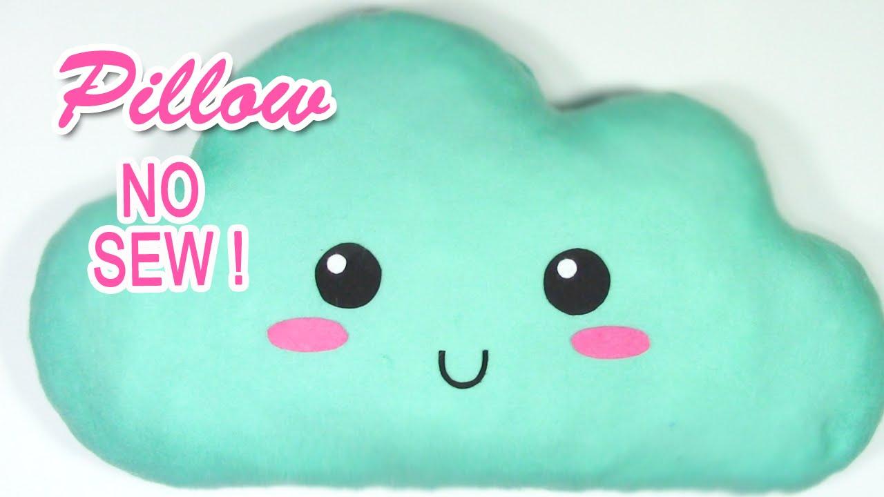 DIY crafts: CLOUD pillow NO SEW!
