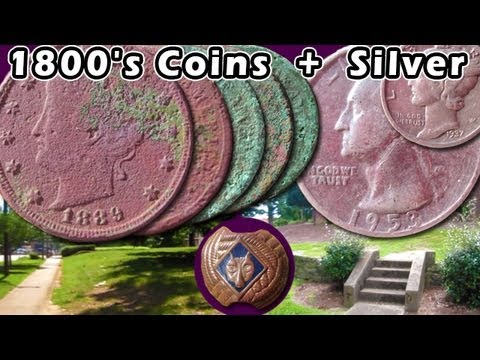 1800's Nickel Spill + SILVER Rockin' the 1800's Coins Garrett AT Pro 150 250 350 Ace metal