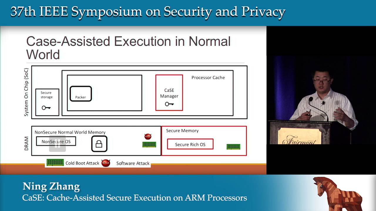 CaSE: Cache-Assisted Secure Execution on ARM Processors