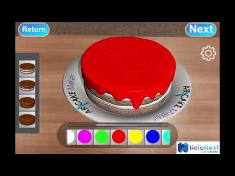 Ar Cake Maker 3d Augmented Reality 3d Cake Design App Youtube