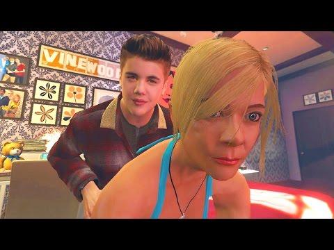JUSTIN BIEBER GETS A GIRLFRIEND IN GTA 5 (Gta 5 Girlfriend Mod)