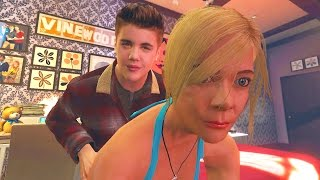 JUSTIN BIEBER GETS A GIRLFRIEND IN GTA 5 (Gta 5 Girlfriend Mod)
