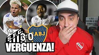 SANTOS 3 - 0 BOCA JUNIORS | Reacción Hincha Argentino | SEMIFINAL COPA LIBERTADORES