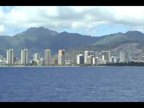 View of Oahu from the Hawaii Superferry