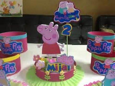 Centros De Mesa De Peppa Pig De 30 Ideas Para Fiestas