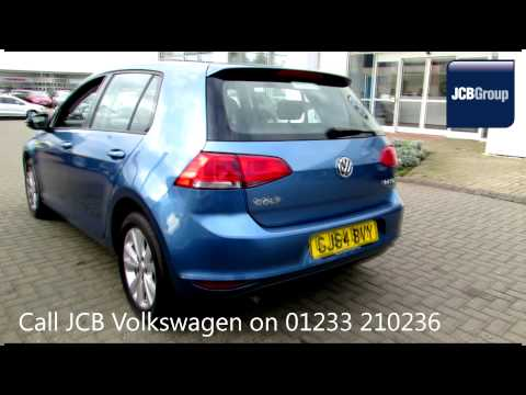 2014 Volkswagen Golf Match 2l Pacific Blue Metallic GJ64BVY for sale at JCB VW Ashford