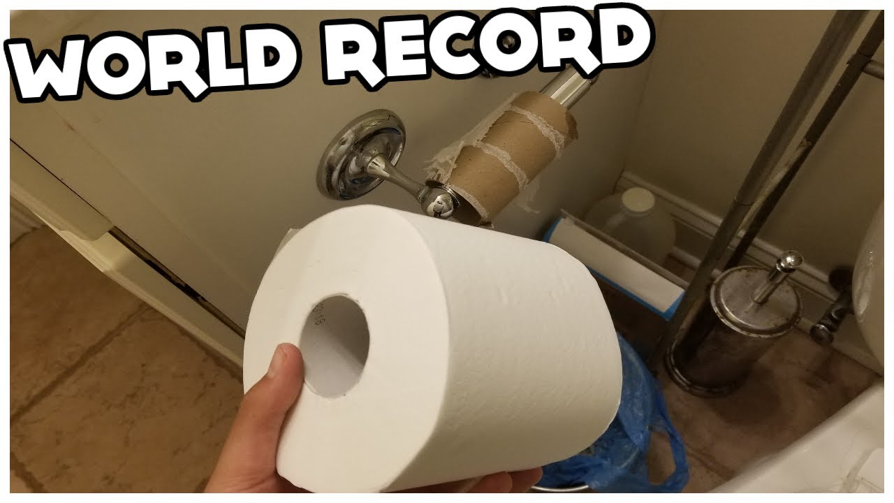 Toilet Paper Speedrun (World Record)