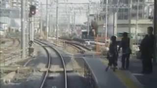 東武野田線東岩槻~春日部間複線化工事区間前面展望 2004.2