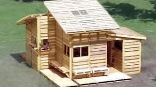 Как сделать дом из деревянных паллет (поддонов)(Видео о том как можно сделать дом из деревянных паллет (поддонов) на счет первоисточника неизвестно, но..., 2013-08-06T08:34:09.000Z)