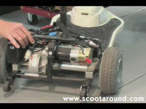 how to disassemble a shoprider scooter for transport