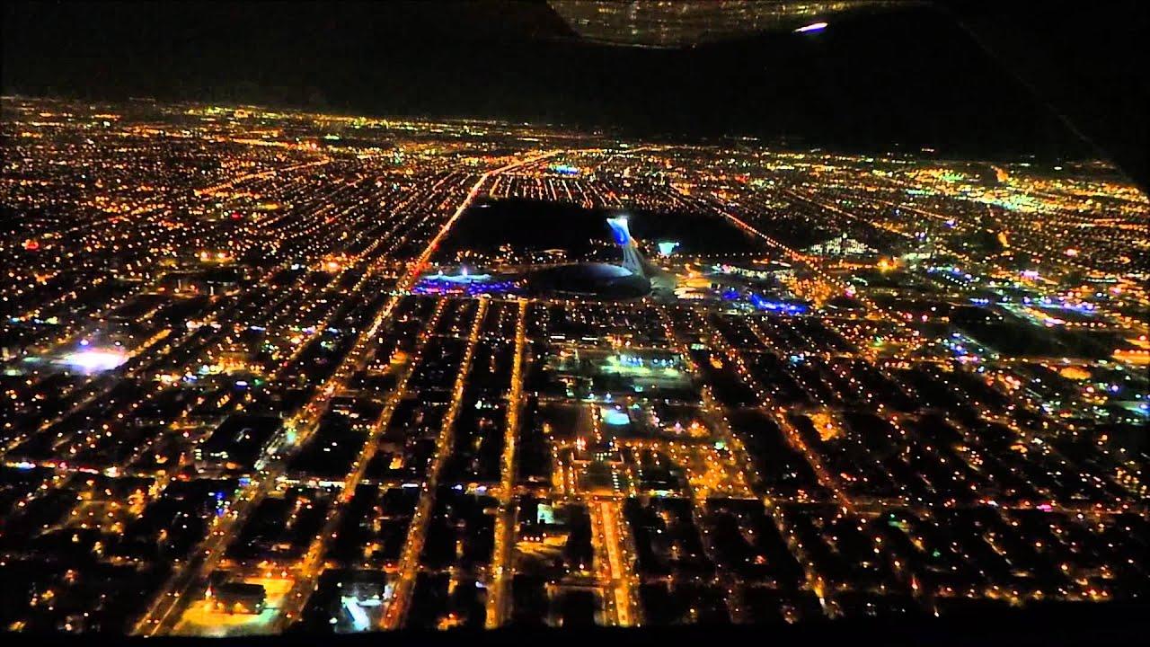 Night Flying Over Montreal Yul Survol De Nuit De