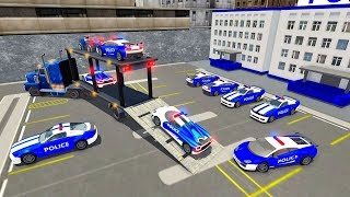 US Police Car Transport Cargo Ship Simulator (by Mushrooms Game) Android Gameplay [HD]