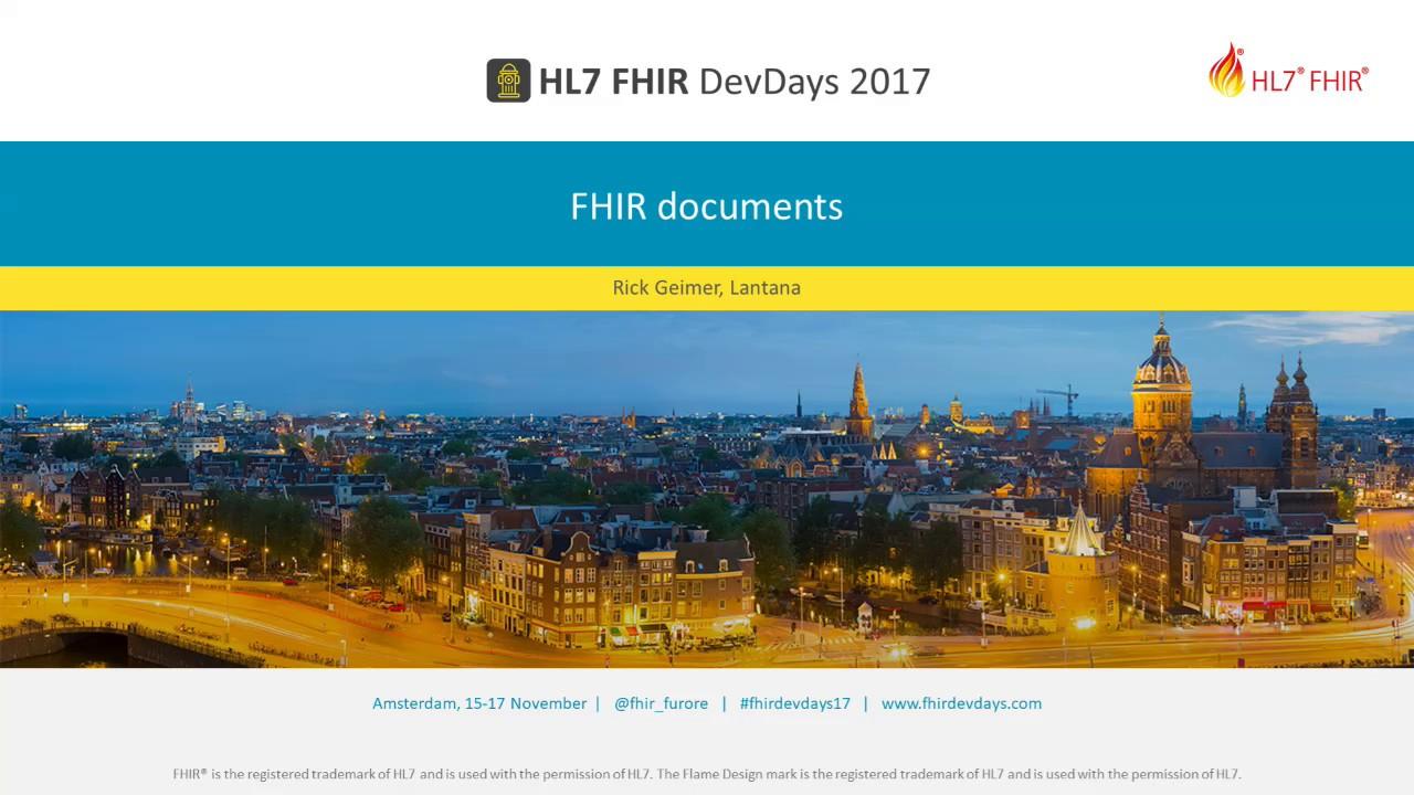 Rick Geimer - FHIR documents | DevDays 2017 Amsterdam