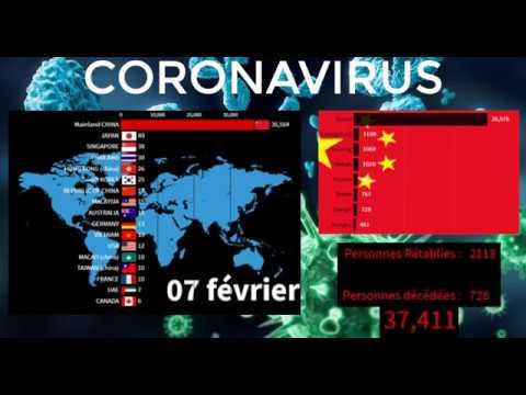 CORONAVIRUS   Propagation, évolution,contamination, décès   VIRUS COVID-19