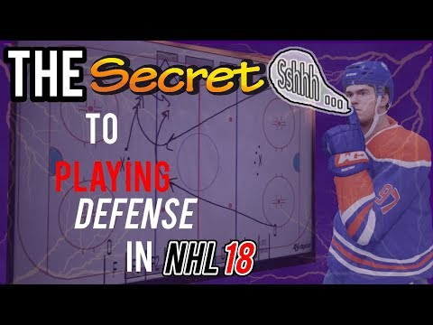 The Secret to Playing Defense in NHL 18 (Defense Tips/Guide including Defensive Skill Stick)