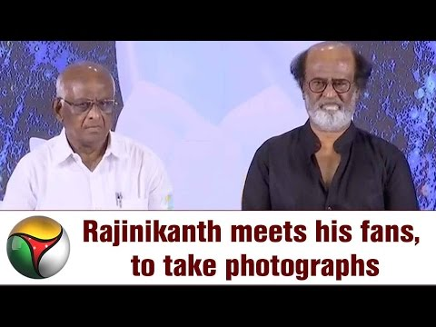 Rajinikanth meets his fans, to take photographs | Live Report