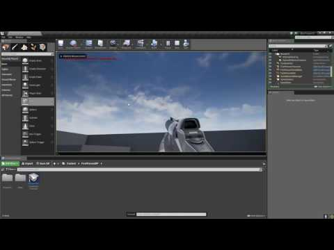 Unreal Engine 4 Starting out scene and explanation of object physics