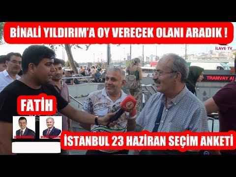 Fatih'te Binali YILDIRIM'a Oy Verecek Olanı Aradık ! 23 Haziran İstanbul
