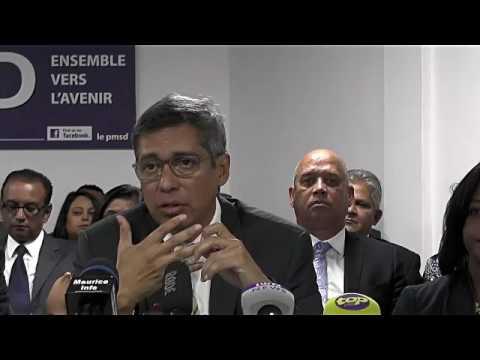 Maurice Info - Conférence de presse du PMSD du 28 Juillet 2017