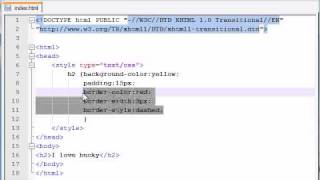 XHTML and CSS Tutorial - 22 - Border