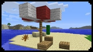 Minecraft: How to make a beach umbrella and deck chairs