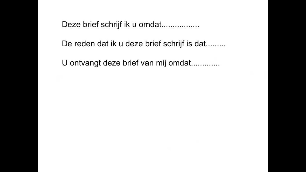 Van Balveren zakelijke brief 4Tl   YouTube