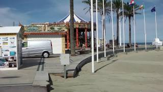 Beach and Promenade, Canet Plage, France
