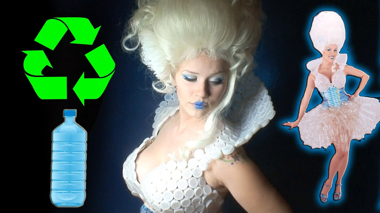 Recycled Fashion Water Bottle Dress By Tina Tiainen Youtube