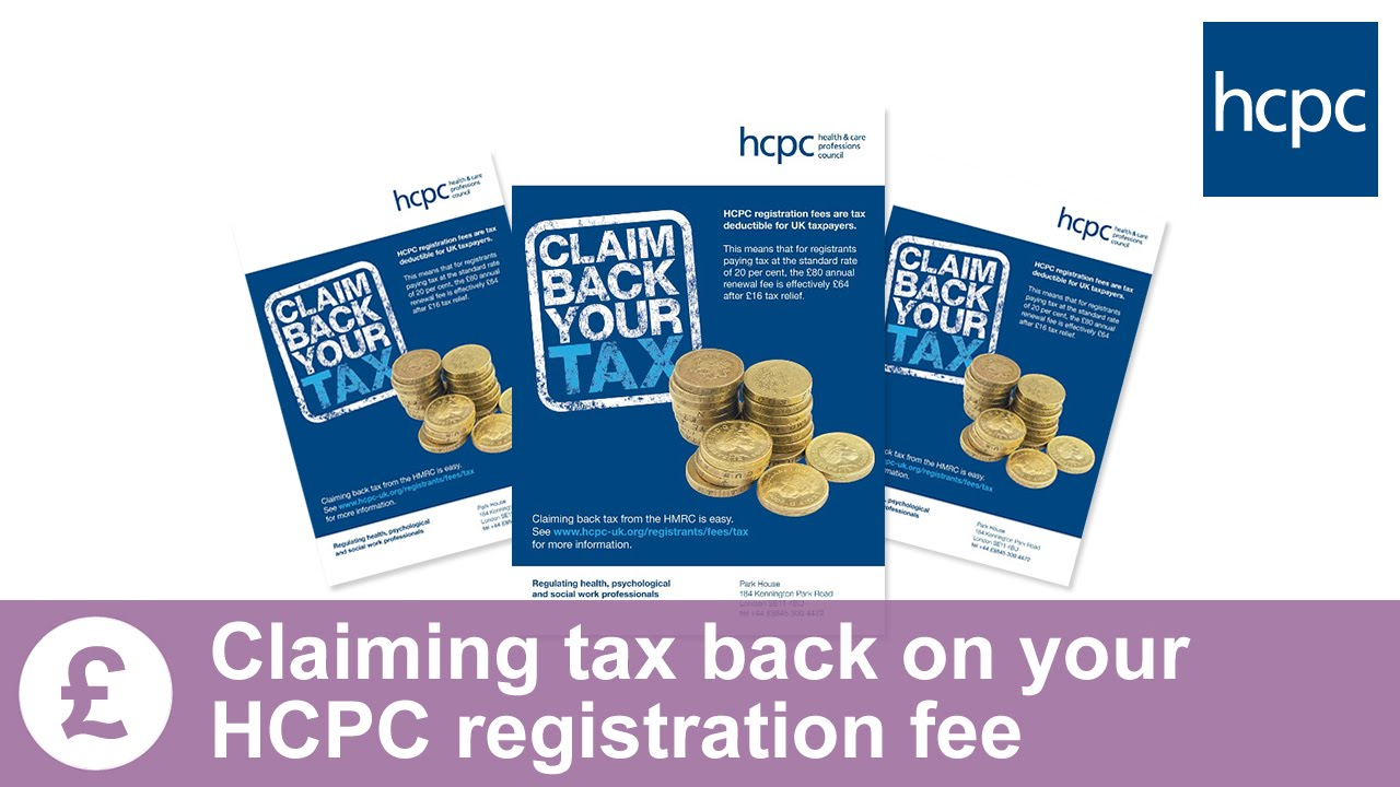 Hmrc Claim Tax Back >> How To Claim Your Tax Back On Your Hcpc Registration Fees