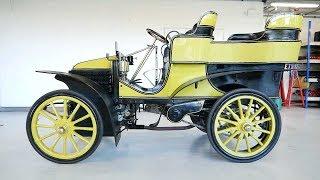 How to start the 1901 Wolseley 10hp tonneau