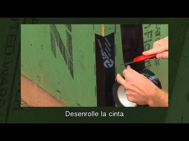 Tape Outside Corners With ZIP System™ tape-Spanish