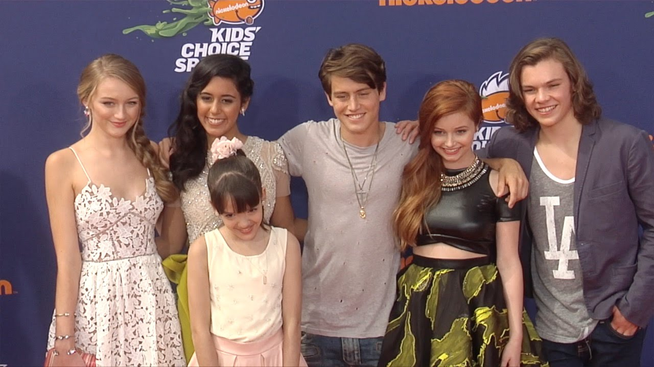 The Kitchen Cast Talia In The Kitchen Cast  Kids' Choice Sports 2015 Orange