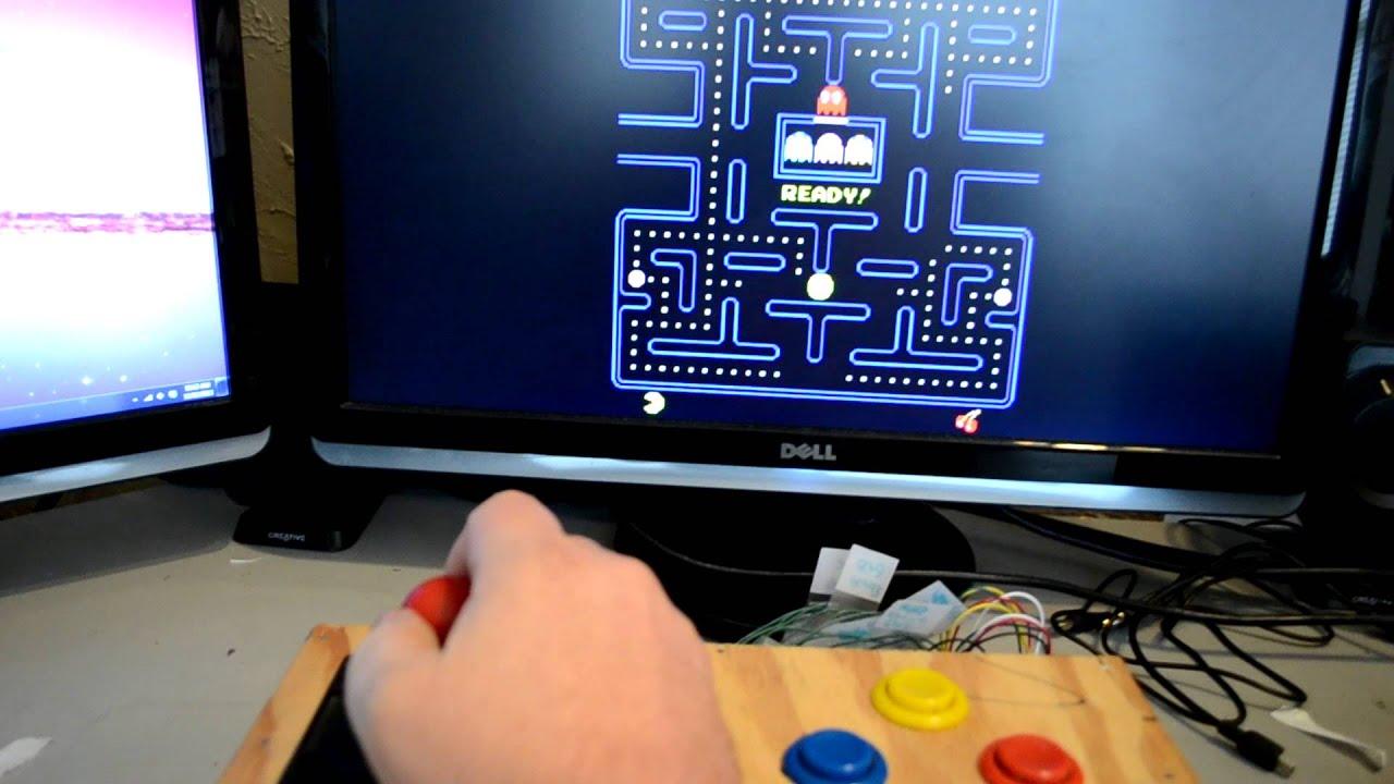 Arcade joystick connected to pc via arduino youtube