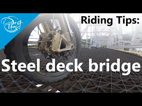 How to ride across a steel grate bridge
