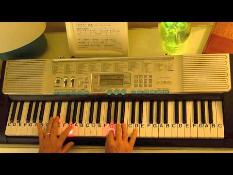 How To Play Silent Night Key Bb Letternoteplayer Youtube