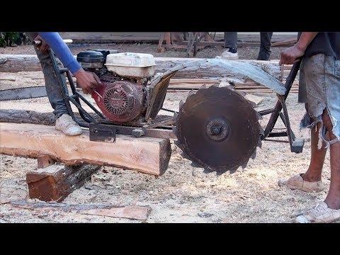 Automatic Homemade Wood Sawmill Machines Modern Technology - Extreme Fast Wood Cutting Machine