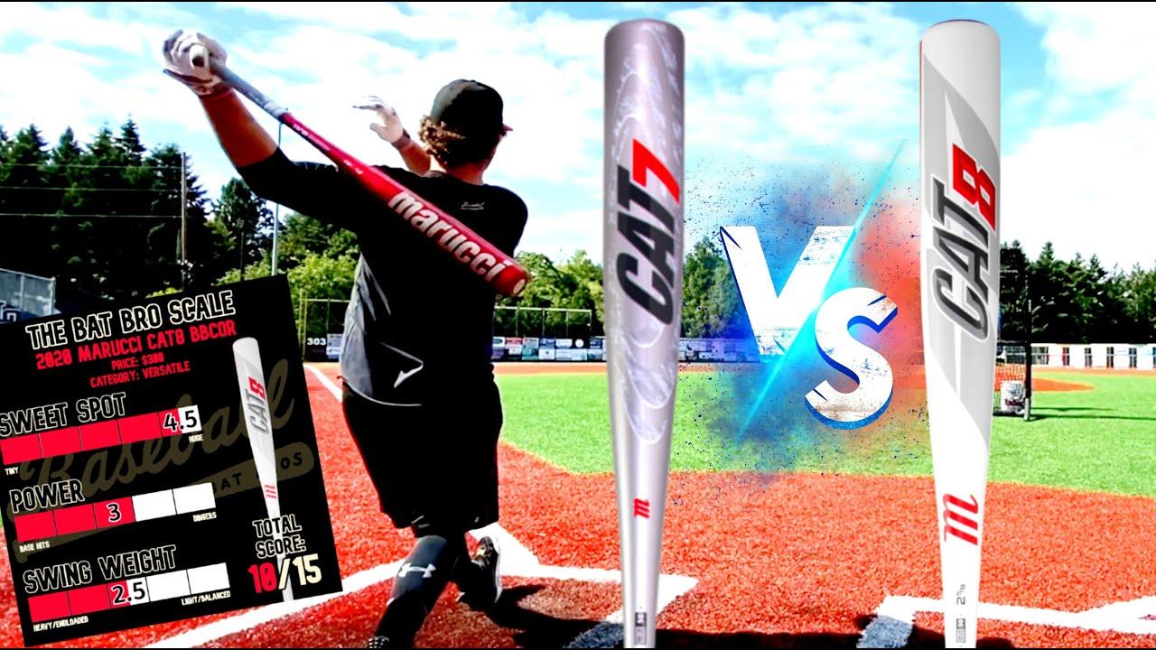 Marucci Cat7 vs Marucci Cat8 - Old vs New BBCOR Baseball Bat Showdown