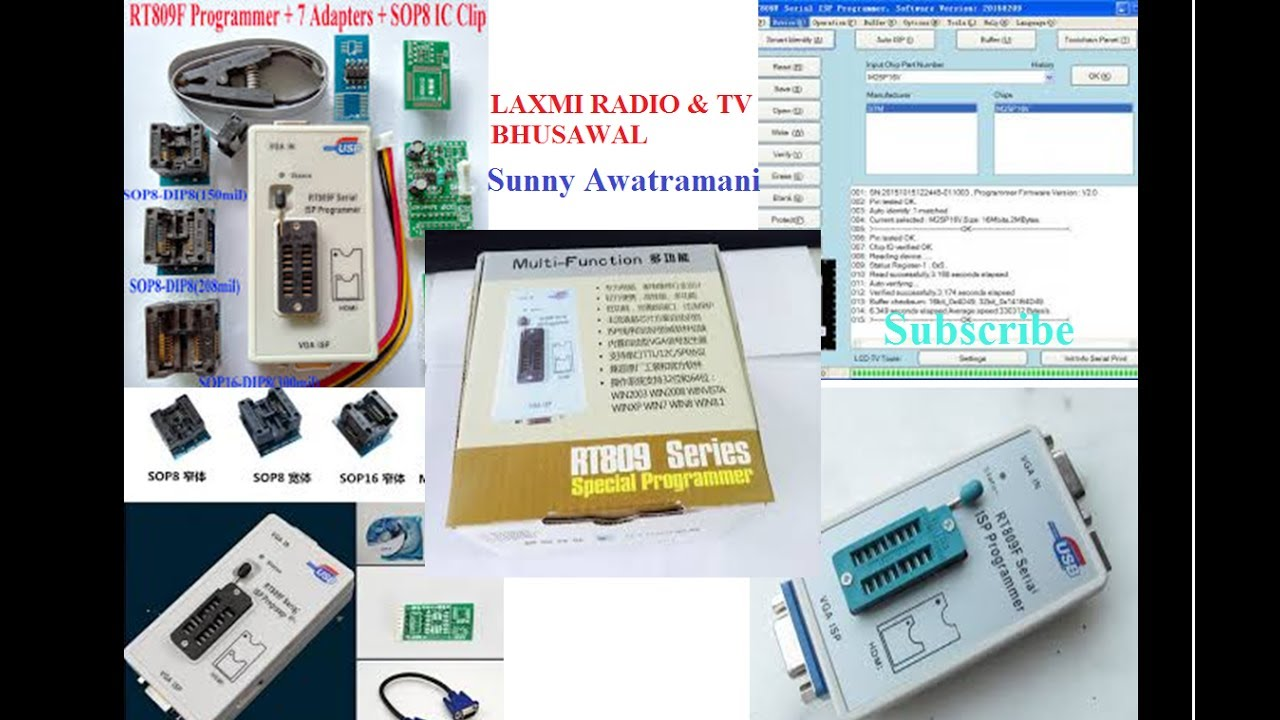 RT809F Bios Programmer READ WRITE (Full Tutorial)  by LeD LcD Tv Technician