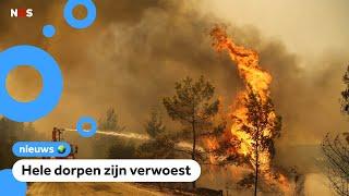 Heftige bosbranden in Turkije
