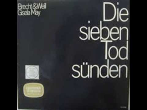Kurt Weill  Berthold Brecht - Die sieben Todsünden mit Gisela May - Dirigent: Herbert Kegel