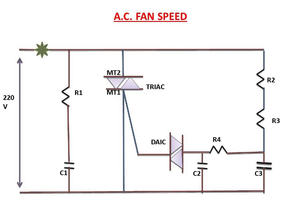 Wiring Diagram Of Ceiling Fan With Regulator : Fan speed control circuit explanation youtube