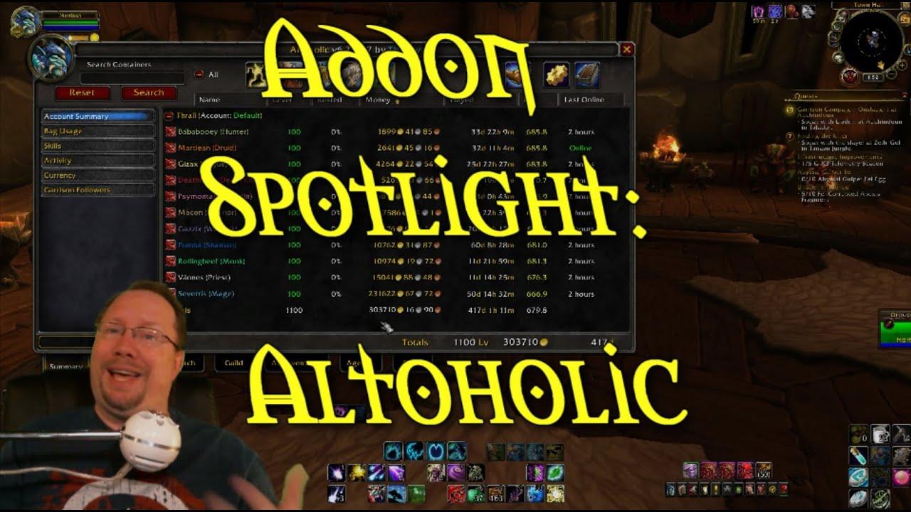Altoholic Addon addon spotlight: altoholic
