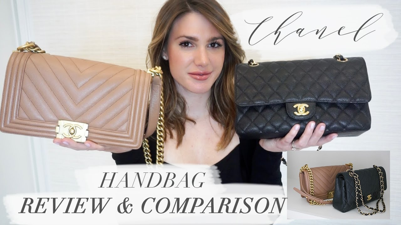 c8f115ece7b1 CHANEL HANDBAG COMPARISON   REVIEW   THE CHANEL BOY BAG AND THE CHANEL  CLASSIC FLAP BAG