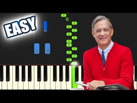 Won't You Be My Neighbor | EASY PIANO TUTORIAL + SHEET MUSIC by Betacustic thumbnail
