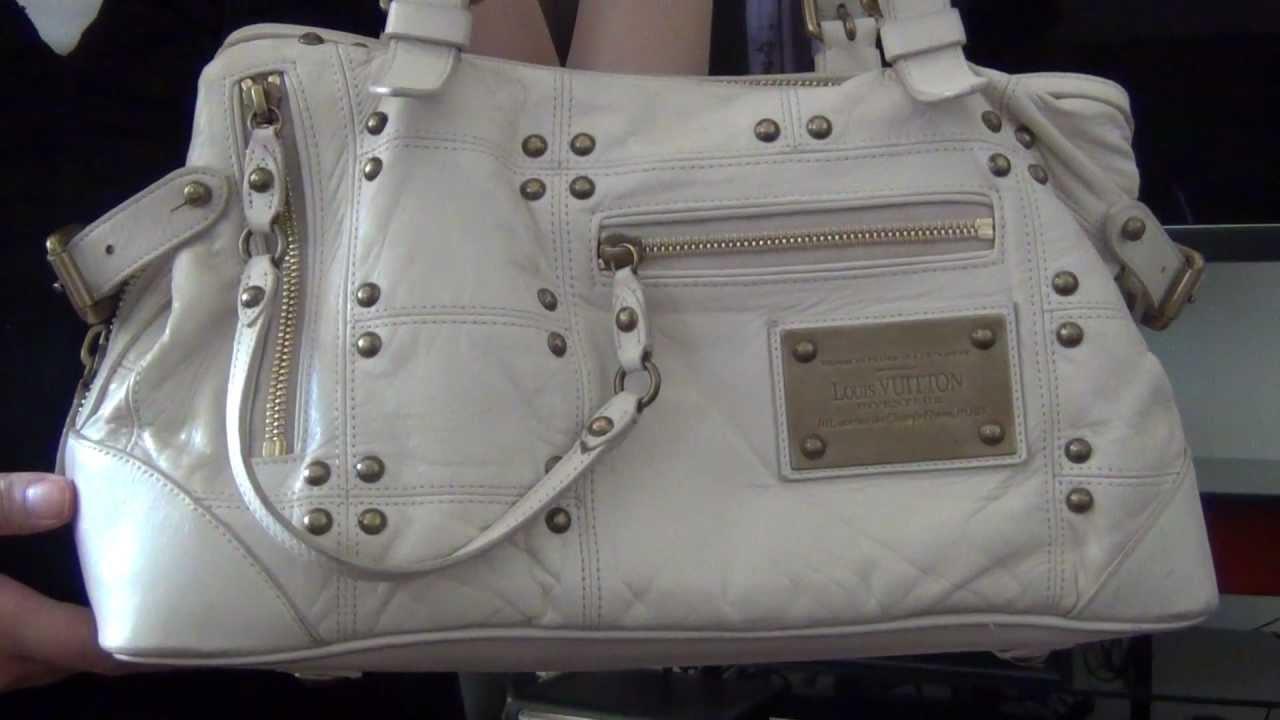 24253553afba My Louis Vuitton Collection Part 6--Lambskin Riveting Ecru Bag - YouTube