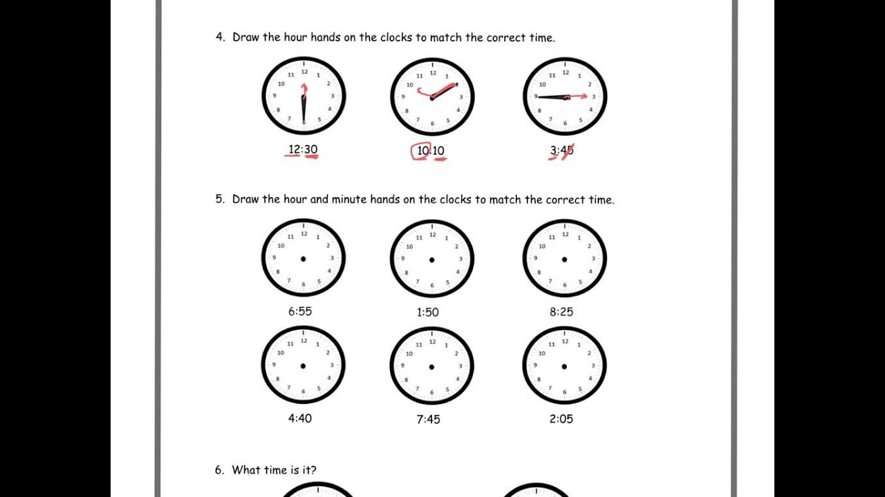 hight resolution of Tell time: a.m. and p.m. (solutions