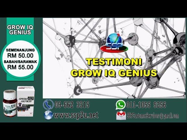 Testimoni SSP 1 (Grow IQ Genius)