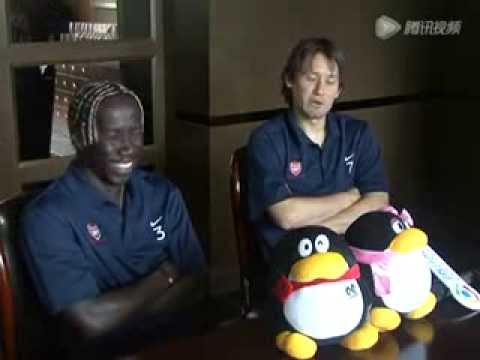Rosicky & Sagna funny interview in China