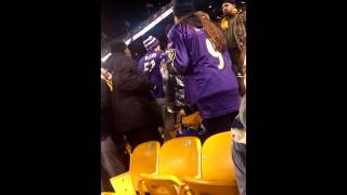 Guy gets kicked out of Steelers vs Ravens game